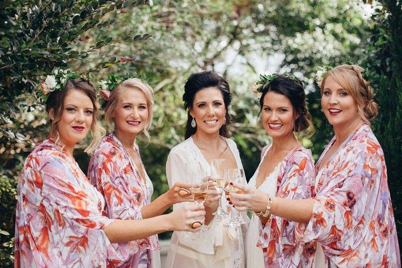 bridal party wedding hair dresser buderim