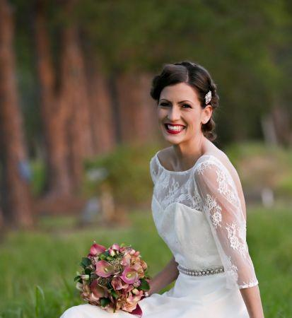 vintage bride hairstyle sunshine coast