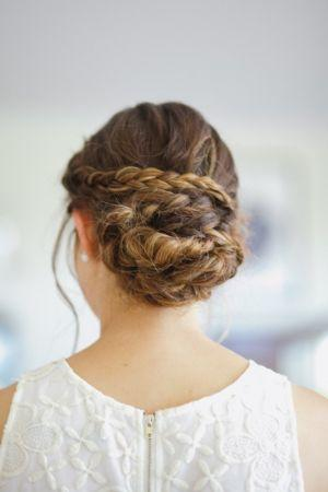 wedding braided hairstyle sunshine coast