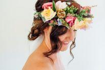 bridal floral crown hairstylist sunshine coast