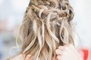 waterfall braid wedding hairstyle