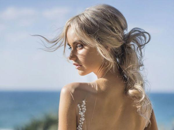 modern hairstyle for bride Sunshine Coast